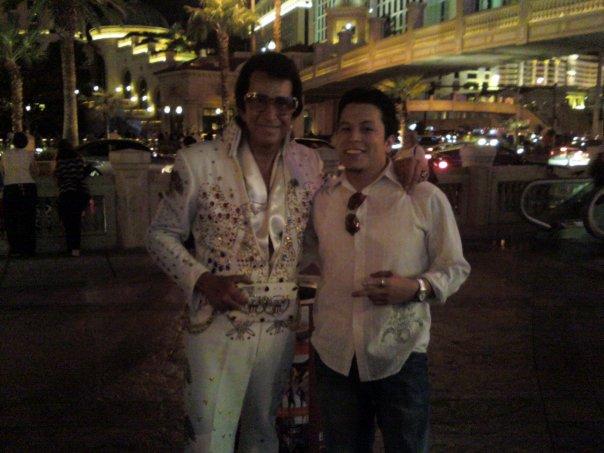 Me with Elvis in Vegas!